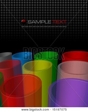Colorful abstract composition - vector illustration