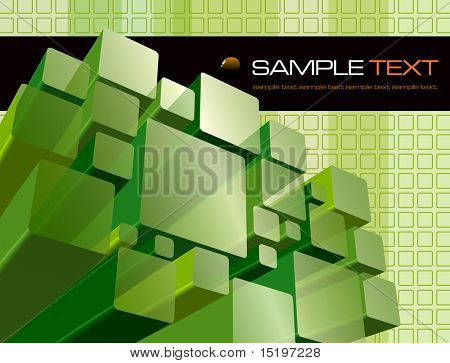 Abstract transparent green background - vector illustration