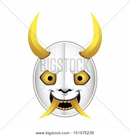 Japanese demon mask type  2 with gradients