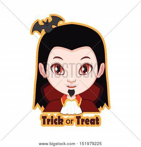 Halloween trick or treat character badge - Vampire