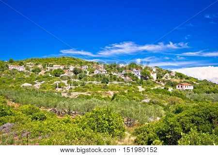 Mediterranean village on Island of Vis Zena Glava Croatia