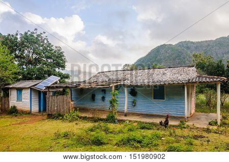 VINALES, CUBA - MARCH 19, 2016: Farm in the Vinales Valley in Cuba