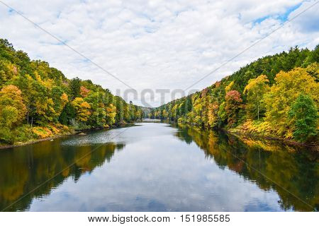 The Clarion River in Western Pennsylvania during Autumn.
