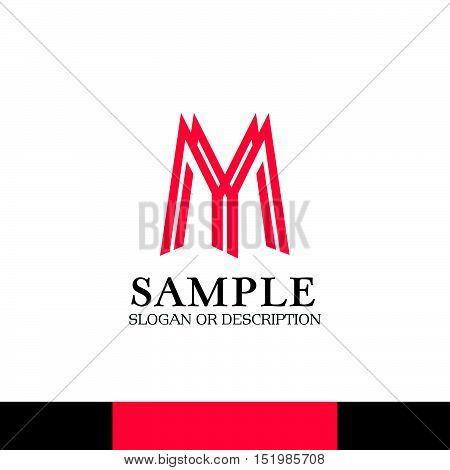 Design of Creative Corporate Branding. Emblem, Slogan and Description with Modern Color Scheme.