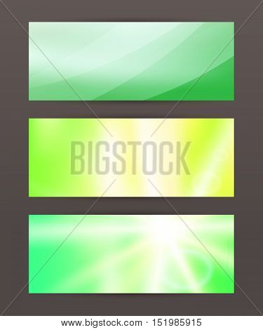 Set Horizontal Banner Headline Abstract Glow Lines20