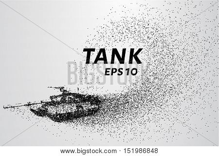 The tank of particles. The tank consists of small circles. Vector illustration