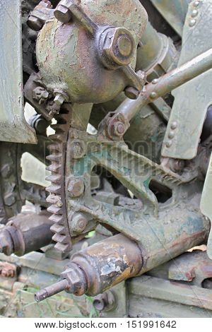 Old Russian Artillery - close up of detail