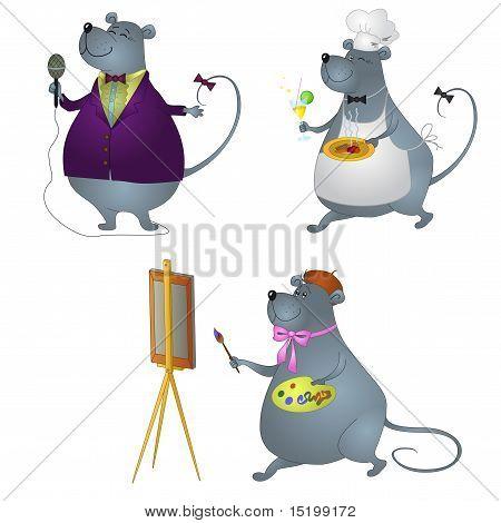 Rat professionals, set