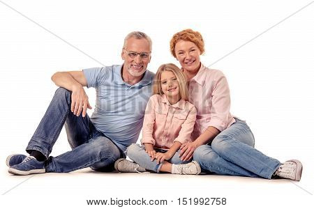 Grandparents And Little Girl