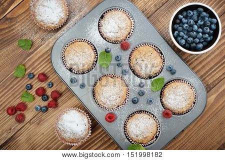 Just Baked  Muffins In Bakeware