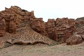 Nature, landscape, landscape, mountain landscape, canyon, Charyn canyon, clay Cajon, clay, Geology, riverbed poster