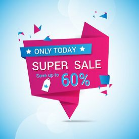 sale banner template vector design.Sale and discounts. Vector illustration