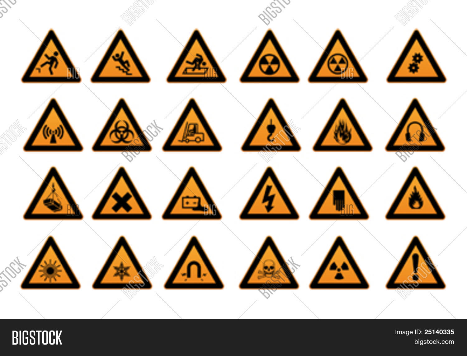 Work safety signs symbols vector photo bigstock work safety signs and symbols buycottarizona Choice Image