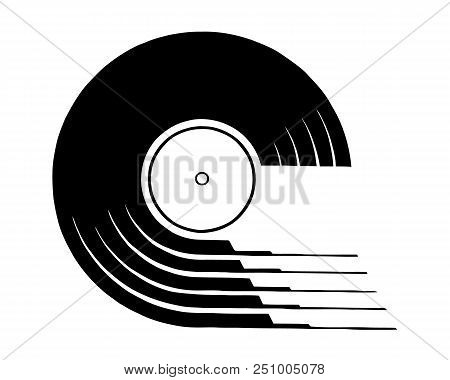 Vinyl Record Icon. Simple Illustration Of Vinyl Record Vector Icon For Web Design Isolated On White