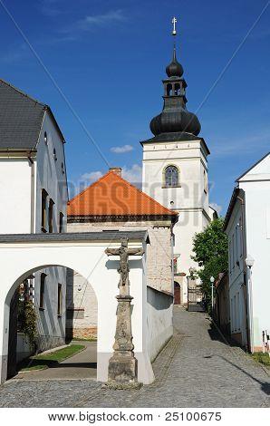 Parish Office and church in Svitavy