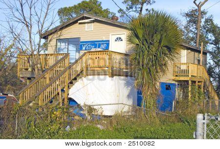 Katrina Waterline On House