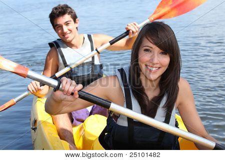 Couple in kayak