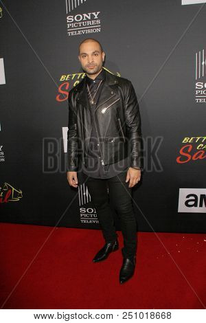 Michael Mando arrives at the AMC's