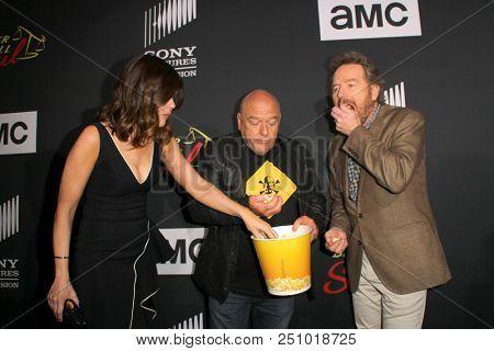 Betsy Brandt, Dean Norris, Bryan Cranston arrive at the AMC's