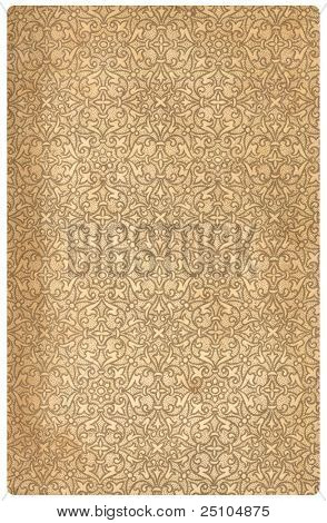 vintage bookend-paper with geometrical pattern