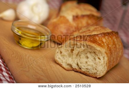 Sourdough Bread On Cutting Board