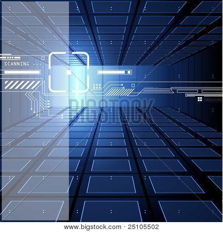 blue 3D futuristic background