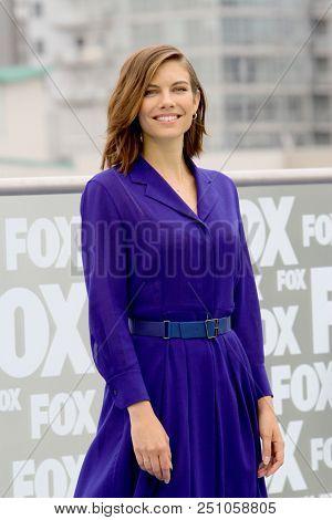 Lauren Cohan arrives at a special AMC