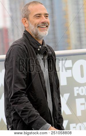 Jeffery Dean Morgan arrives at a special AMC