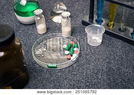 Illegal Drug Manufacturing. Handling Of Drugs. Treatment Drugs. Circulation Of Medicines. Drug Abuse