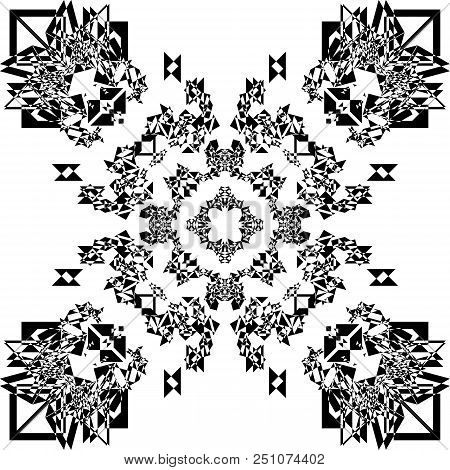Abstract Pattern Multiple Perspective Black On Transparent Background