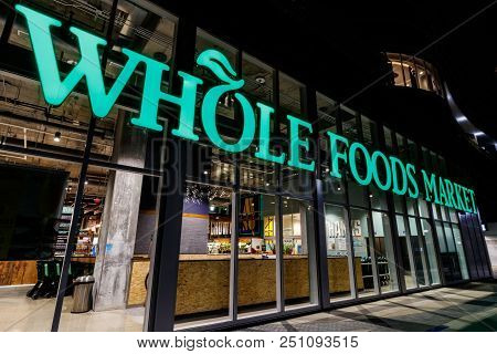 Indianapolis - Circa July 2018: Whole Foods Market. Amazon Is Expanding Whole Foods Delivery In Diff