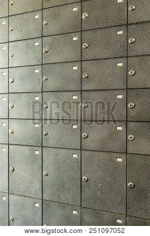 A Large Number Of Bank Cells For Storing Valuables