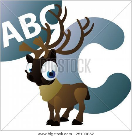 ABC animals: C is for Caribou