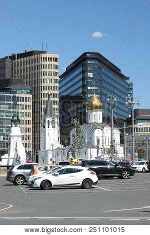Church Of St. Nicholas The Wonderworker In The Square Of The Belorussky Railway Station In Moscow. R