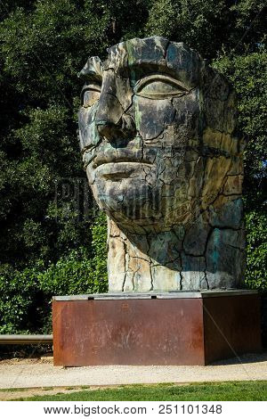 Florence, Italy - July, 2, 2018: monument in a Palazzo Pitty Park in Florence, Italy