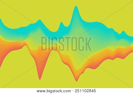 Abstract Background With Dynamic Effect. Color Waves