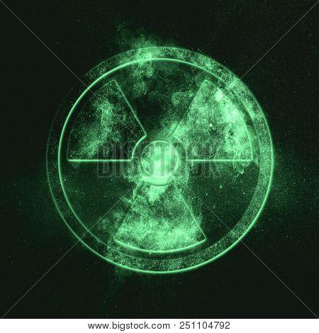 Radiation Sign, Radiation Symbol Green Symbol Green Symbol