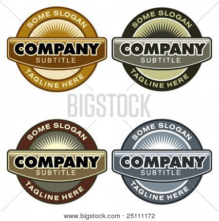 Set of corporate vector logo templates. Just place your own brand name.