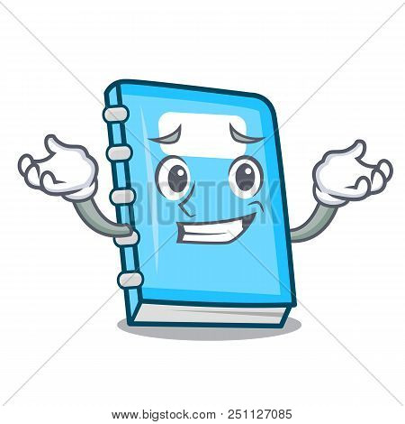Grinning Education Character Cartoon Style Vector Illustration