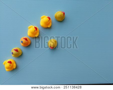 Rubber duck, dare to be different concept