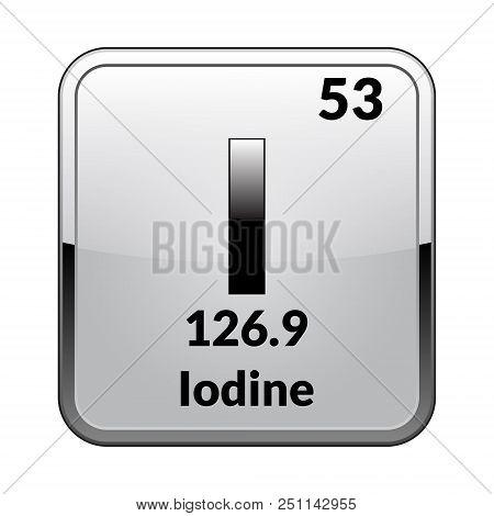 Iodine Symbol Vector Photo Free Trial Bigstock