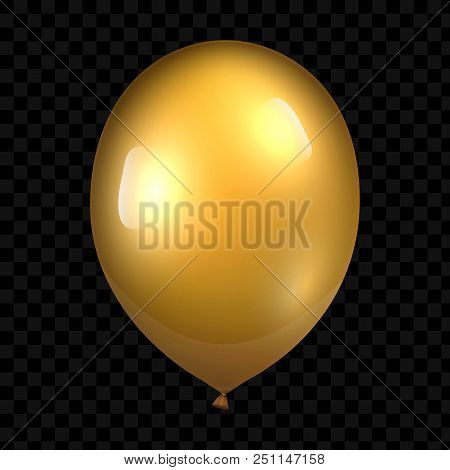 Holiday Illustration Of Flying Glossy Balloon. Vector Illustration For Your Design And Business