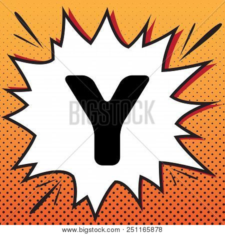 Letter y sign design vector photo free trial bigstock letter y sign design template element vector comics style icon on pop art maxwellsz