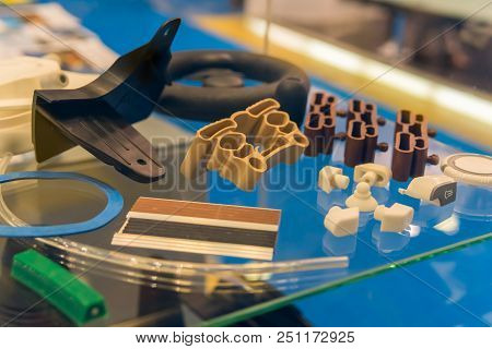 Plastic And Rubber Parts Of Automobile Production By High Precision Mold Injection In Industrial Fac