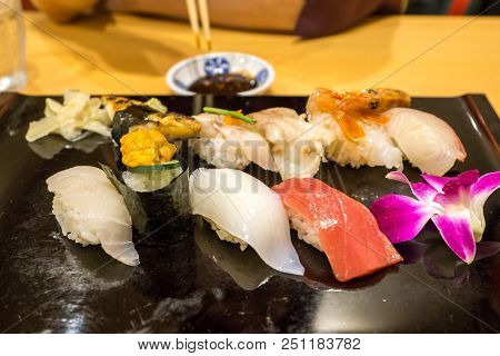 Platter Of Fresh Sushi