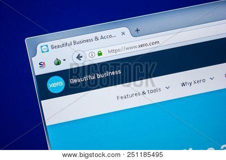 Ryazan, Russia - July 24, 2018: Homepage Of Xero Website On The Display Of Pc. Url - Xero.com