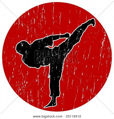 Karate Illustration - Perfect Kick