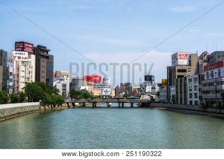Fukuoka Naka River Reflections