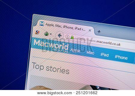 Ryazan, Russia - July 25, 2018: Homepage Of Macworld Website On The Display Of Pc. Url - Macworld.co