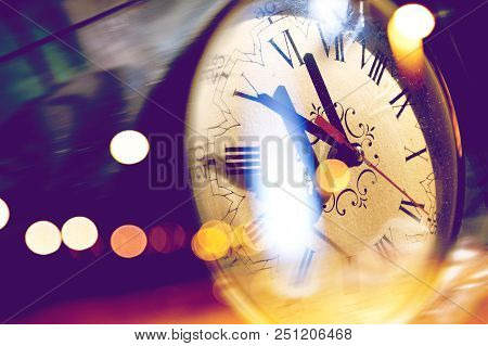 Old Clock Abstract Backgound. Time Concept And Time Planning